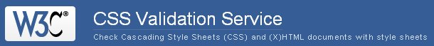 W3C CSS Validation Service